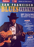 San Francisco Blues Festival poster 1995